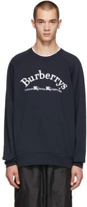 Burberry Navy Battarni Logo Sweatshirt