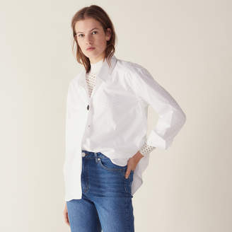 Sandro Shirt Embellished With A Jewelled Button