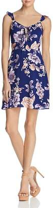 J.o.a. Tie Detail Floral Print Dress