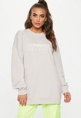 Missguided Sand Company Records Oversized Sweatshirt