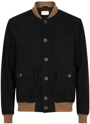 Oliver Spencer Gandy Black Suede Bomber Jacket
