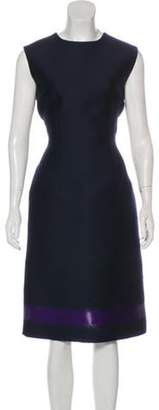 Balenciaga Virgin Wool Midi Dress plum Virgin Wool Midi Dress