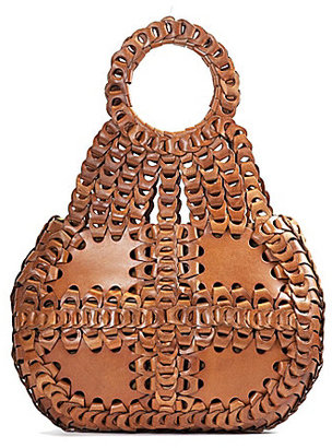 Patricia Nash Leather Chain Link Collection Pisticci Shoulder Bag $399 thestylecure.com