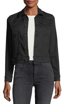 Mother Pocket Bruiser Button-Front Denim Jacket