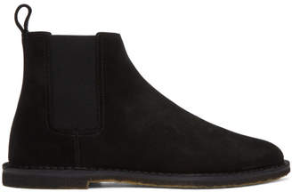 Saint Laurent Black Suede Crepe Sole Oran Chelsea Boots