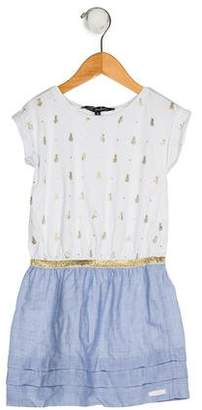 Lili Gaufrette Girls' Printed Short Sleeve Dress