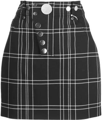 Alexander Wang Alexanderwang plaid pattern high waisted skirt