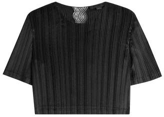 Alexander Wang Cropped Top with Lace Insert