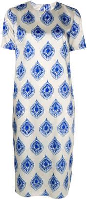 Hache geometric print midi dress