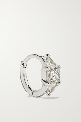 Maria Tash - 6.5mm 18-karat White Gold Diamond Hoop Earring