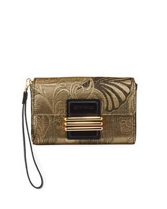 Etro Metallic Fabric Shoulder Bag
