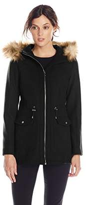 Jessica Simpson Women's Anorak with Faux Fur Trim Hood