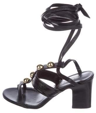 Tamara Mellon Leather Wrap-Around Sandals