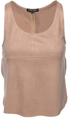 David Lerner Nude Overlap Tank Top