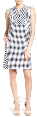 Women's Tommy Bahama Gingham The Great Linen Shift Dress $148 thestylecure.com
