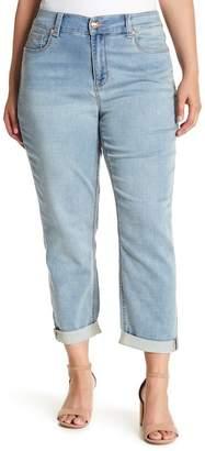 Melissa McCarthy Stretch High Rise Crop Girlfriend Jeans (Darling) (Plus Size)