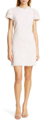 Kate Spade Puff Sleeve Tweed Dress