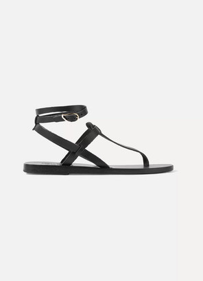 Ancient Greek Sandals Estia Leather Sandals - Black