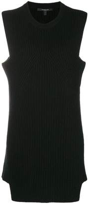 Derek Lam cashmere sleeveless ribbed tunic