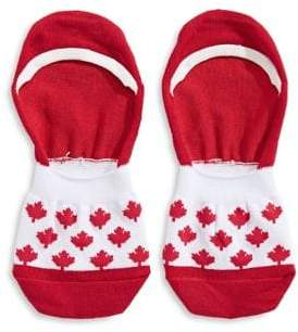 Canadian Olympic Team Collection Womens Maple Leaf No Show Socks