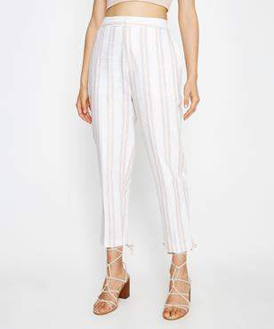 Alice In The Eve Josie Soft Tailored Pant Textured Stripe