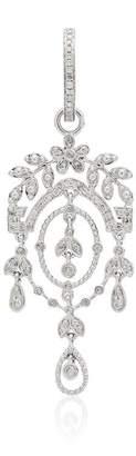 Leon Yvonne Creole Feuilletis Diamond Earrings