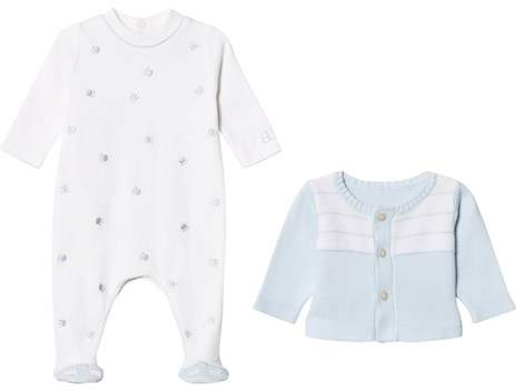 Pale Blue Cardigan and Jersey Babygrow