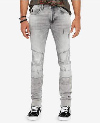 Buffalo David Bitton Men Max-x Skinny-Fit Stretch Moto Jeans
