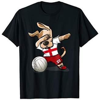 Dog Dabbing Volleyball England Jersey Shirt English Vball