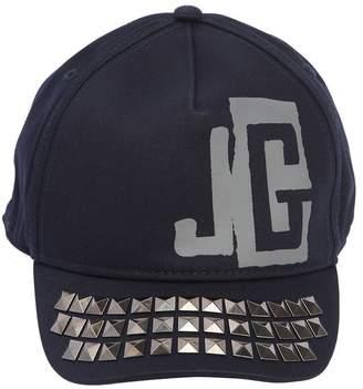 John Galliano Studded Cotton Gabardine Hat