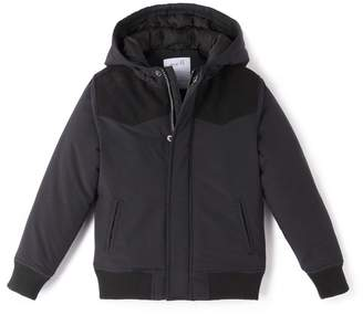 La Redoute Collections Hooded Coat with Elbow Patches, 3-12 Years
