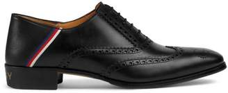 Gucci Leather brogue shoe with Sylvie Web