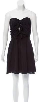 Elizabeth and James Silk Strapless Dress