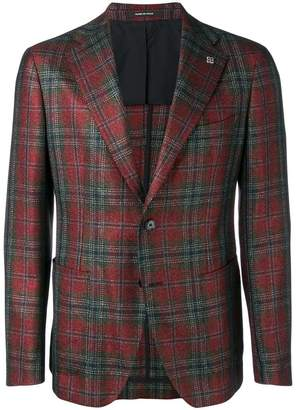 Tagliatore checked suit blazer