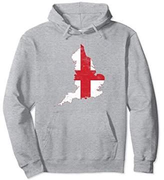 England Flag hoodie distressed vintage