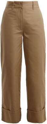 Prada Wide-leg cotton trousers