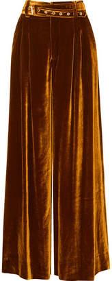 Marques Almeida Marques' Almeida - Belted Velvet Wide-leg Pants - Gold