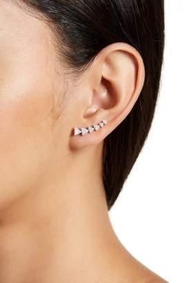 Swarovski ADORNIA Sterling Silver Crystal Accented Arrow Ear Climber Earrings