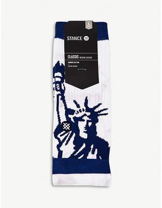 Stance Liberty-print cotton crew socks