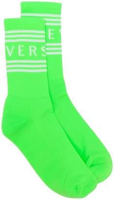 Versace logo ankle socks