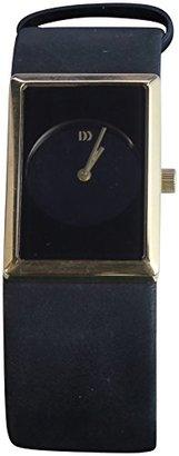 Danish Design (ダニッシュ デザイン) - デンマークデザイン長方形ダイヤルメンズブラックレザー腕時計iv11q867