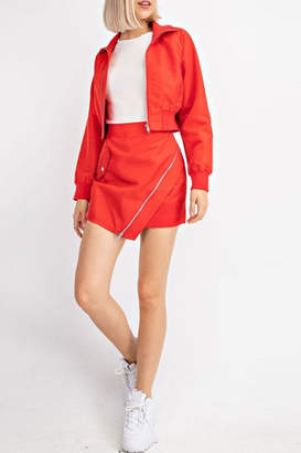 Le Lis Zipper Envelope Skirt