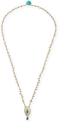 Gas Bijoux Scapulaire Semiprecious Pendant Necklace