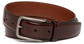 Boconi Burnished Edge Leather Belt