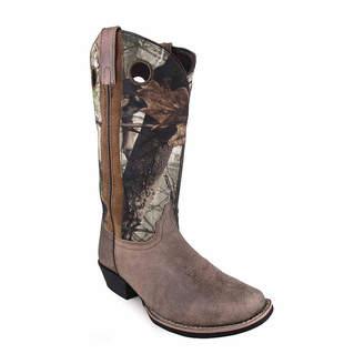 SMOKY MOUNTAIN Smoky Mountain Women's Tupelo 12 Distress Camo Leather Cowboy Boot