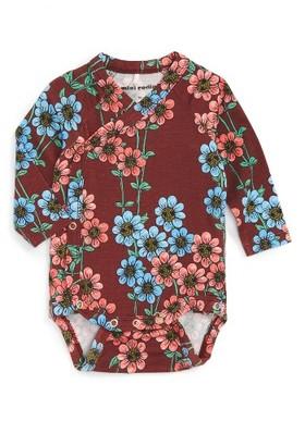 Infant Girl's Mini Rodini Daisy Wrap Bodysuit $44 thestylecure.com