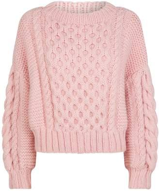 I Love Mr Mittens Wool Aran-Knit Sweater