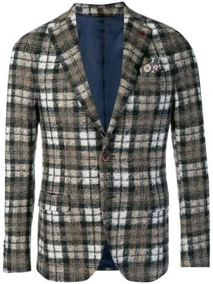 Manuel Ritz checked wool blazer