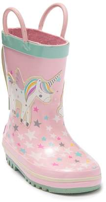 Northside Unicorn Splash Rain Boot (Toddler)