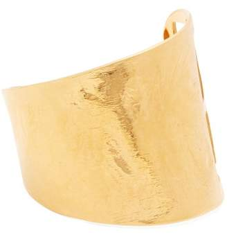 Givenchy Logo Cut Out Cuff - Womens - Gold